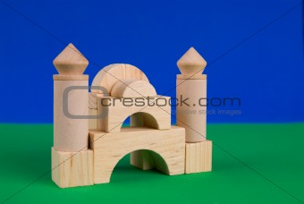 Castle of wood blocks