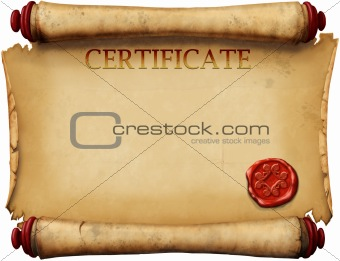 certificates with wax stamp