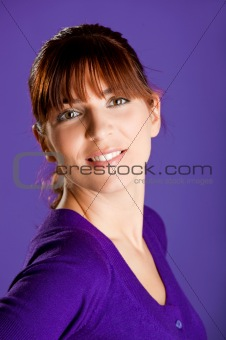 Beautiful woman smilling