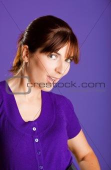 Beautiful woman smilling