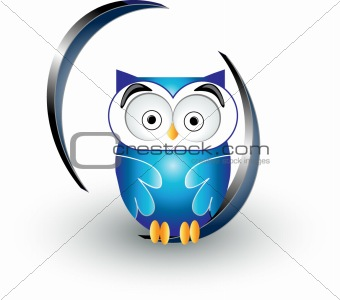 cute blue owl