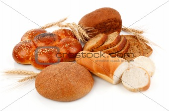 fresh bread with wheat corn