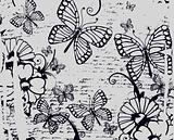 butterfly and flower poster design