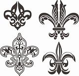 classic fleur de lis symbol