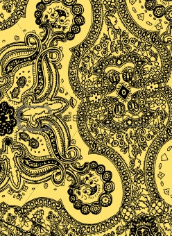 abstract paisley style pattern
