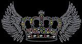 crown with wing diamond graphic