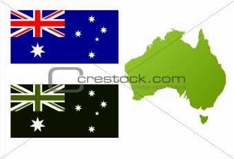 Australian eco flag and map