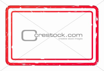 Blank red used business stamp