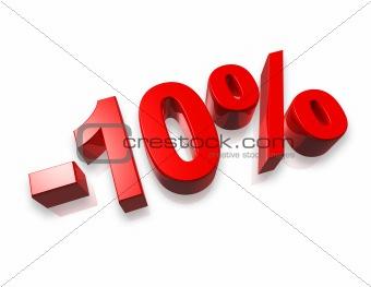 10% ten percent