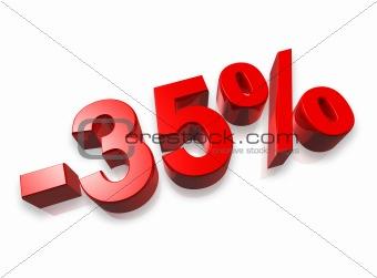 35% thirty five percent