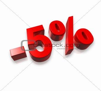 5% five percent
