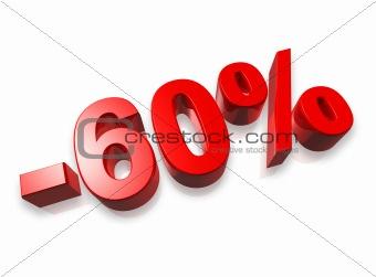 60% sixty percent