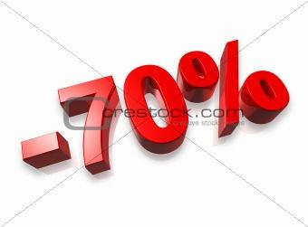 70% seventy percent