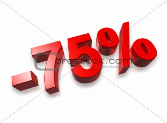 75% seventy five percent