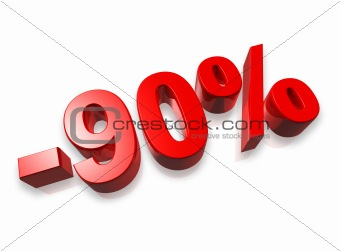 90% ninety percent