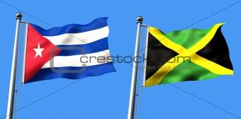 flag of cuba and jamaica