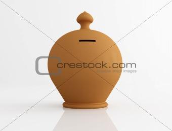 clay money box