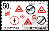 Traffic signs stamp