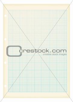 grunge a4 graph paper blue