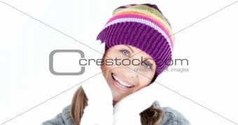 Positive woman looking at the camera