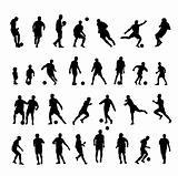Football  player silhouette 30