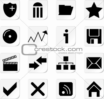 Web Icon Buttons Collection