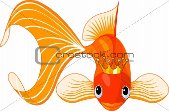 Cartoon Goldfish queen