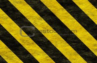 Black Yellow Hazard Stripes