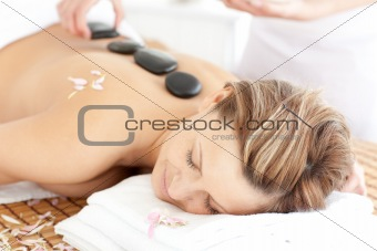 Attractive woman having a massage