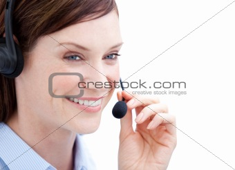 Portrait of a charismatic customer agent at work