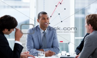 Successful businessmen having a brainstorming