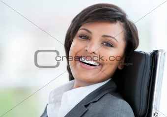 Portrait of a beautiful business woman at work