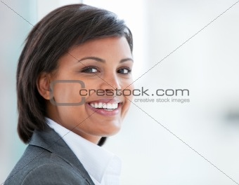 Portrait of a smiling business woman at work