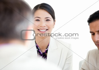 Portrait of a cheerful businesswoman