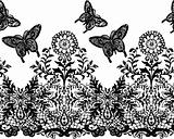 seamless butterfly and plant background pattern