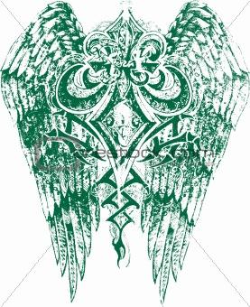 fleur de lis with wing emblem