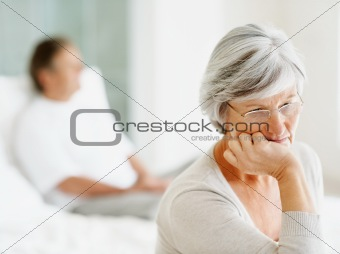 Senior woman having problems with her relationship