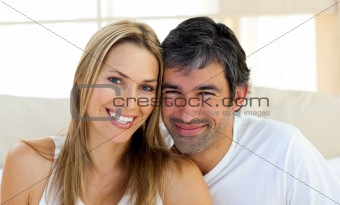 Portrait of smiling lovers