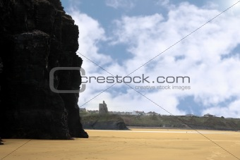 castle view from cliffs