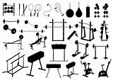 gym equipment (vector)