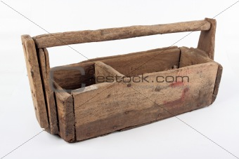 Old wooden toolbox