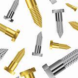 seamless goldish - silver screw pattern