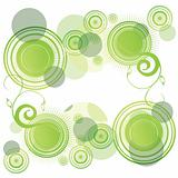 Abstract green rounds