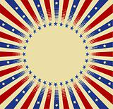 USA radial background