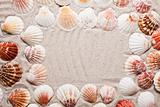 Sands, messages, shells and best from holidays