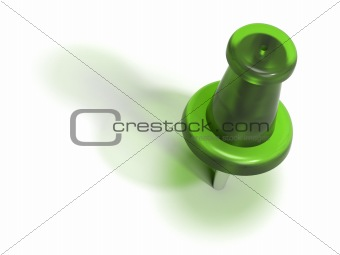 green plastic pushpin or thumbtack - accept