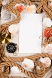 Paper background and shell