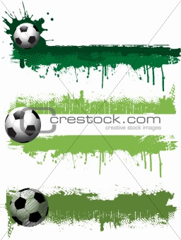 Grunge football banners