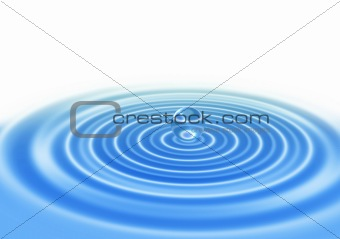 abstract water drop on blue water surface
