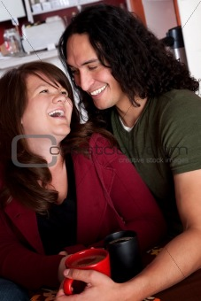 Caucasian and Native American couple